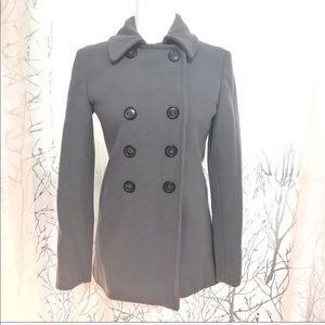 Club Monaco Grey wool peacoat jacket 🎁dry clean🎁